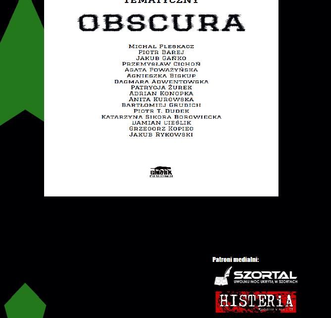 """""""OBSCURA"""" – czyli antologia, która powinna ukazać się w druku, ale…"""